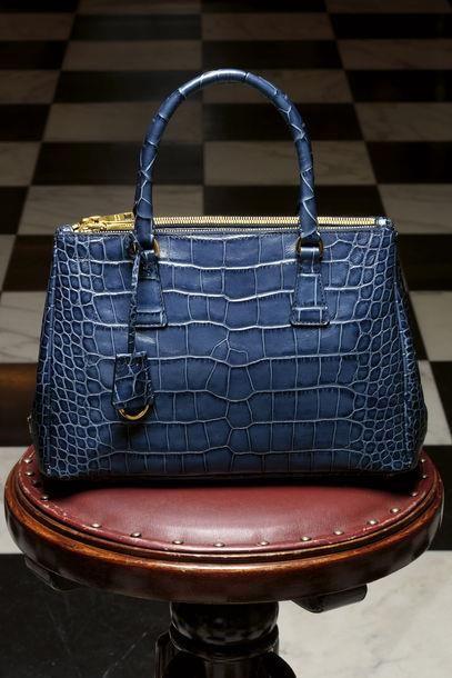 Prada ~ Leather Handbag, Blue