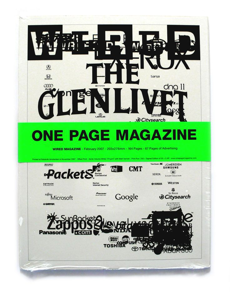 One Page Magazine ,Wired