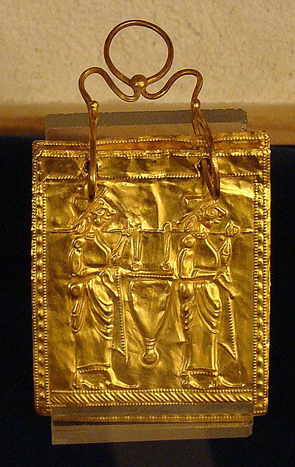 Etruscan Gold Book    believed to be the oldest complete multiple page book found in the world.  It is made of six plates of gold, each 5 x 4.5 cm, and bound with two rings.  It dates to 600 BC.
