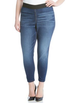 Karen Kane Women's Plus Size Vintage Wash Jeggings -  - No Size