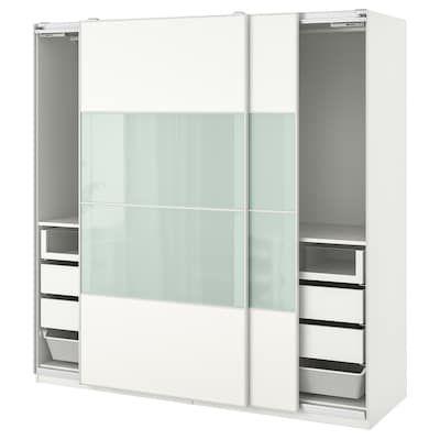 pax armoire penderie blanc mehamn auli 250x66x236 cm ikea