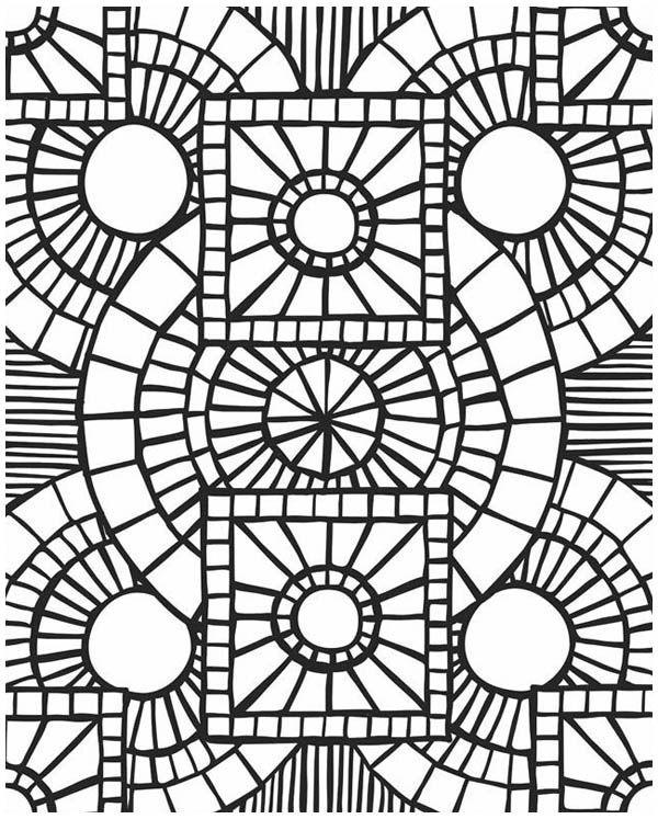 mosaic church window mosaic coloring page
