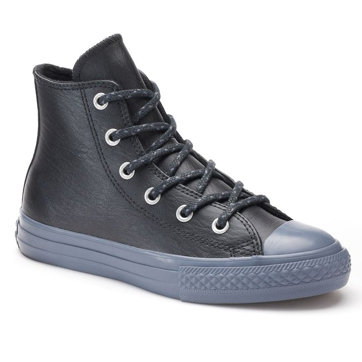 Kids' Converse Chuck Taylor All Star High Top Thermal Leather Sneakers, Kids Unisex, Size: 13, Black