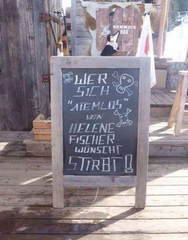 """Wer sich """"Atemlos"""" von Helene Fischer wünscht, stirbt!"""