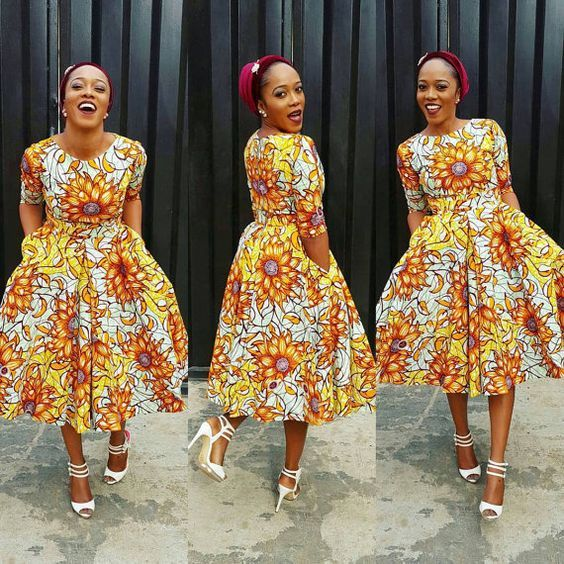 Online Hub For Fashion Beauty And Health: Lovely Ankara Gown With Turban