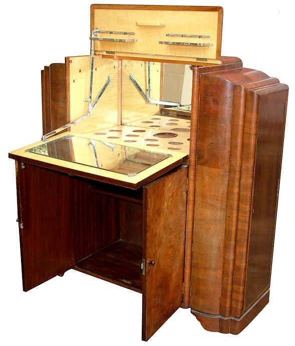 1930's Art Deco Cocktail Cabinet