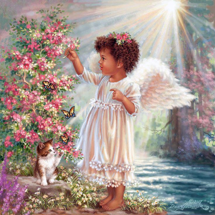 Картинки рисованые, открытки и фото ангелов