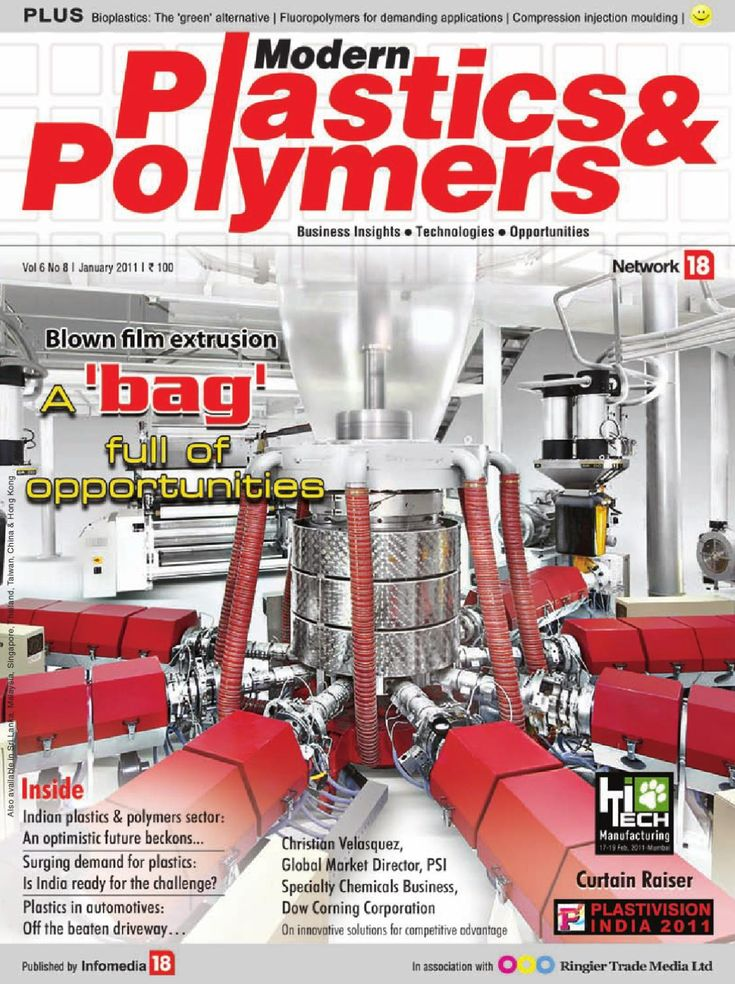Modern Plastics & Polymers - January 2011  'MODERN PLASTICS & POLYMERS', the numero uno monthly B2B magazine for the plastics & polymers industry, offers the latest trends, in-depth views & analysis, and technical information on the world of plastics materials, machinery and products. Suffi ce to say, the key decision makers among plastics processors, mould makers and user industries regularly refer to it for their business information needs.