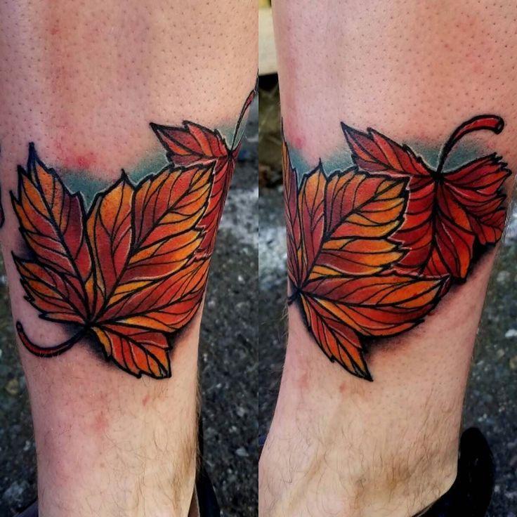 Fall Leaves by @travisbroyles13 at @niteowltattoonw in Everett WA #travisbroyles13 #travisbroyles #niteowltattoo #niteowltattoonw #everett #seattle #washington #leaves #leavestattoo #falltattoo #leaftattoo #tattoo #tattoos #tattoosnob