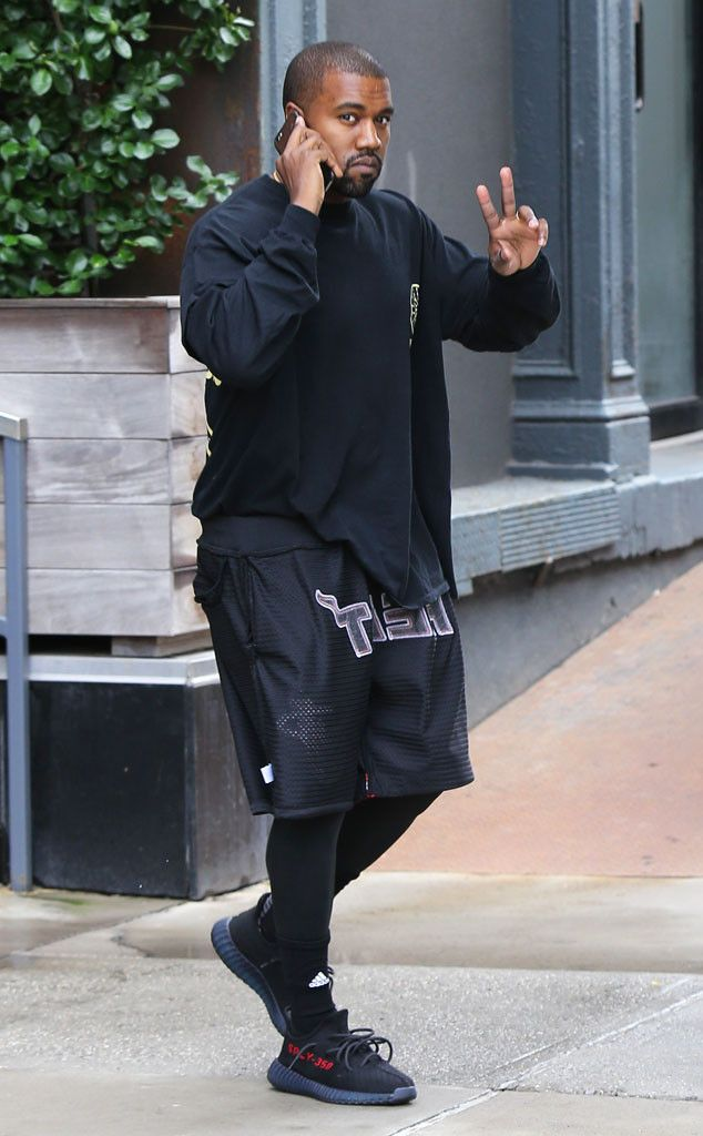Cool Kanye! The famous rapper is spotted out and about in NYC.