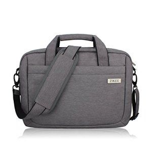 Zikee – Housse ordinateur portable 15-15,6 pouces, étanche, bandoulière, poignée, Housse pc portable/ Pochette/ Besace/ Sacoche ordinateur…
