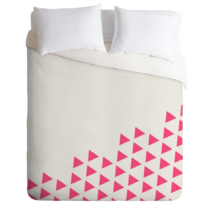 PINK TRIANGLES Duvet Cover By Allyson Johnson $ 189.00