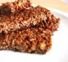 Recette - Barres de céréales au chocolat - Notée 4/5 par les internautes