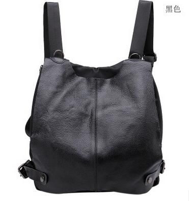 2017 New Women's Genuine Leather Backpack Student's School Bag Backpack  Travel/ Street bag for girls College Bag