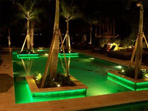 outdoor pool lighting. led lighting in a pool outdoor