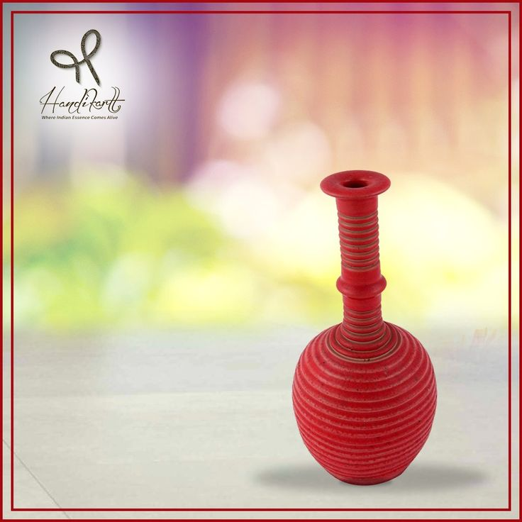 #Tuesday: Outdoor or indoor, keep it everywhere and #decorate your home with flowers in this #red vase from #Handikart_India #coloroftheday