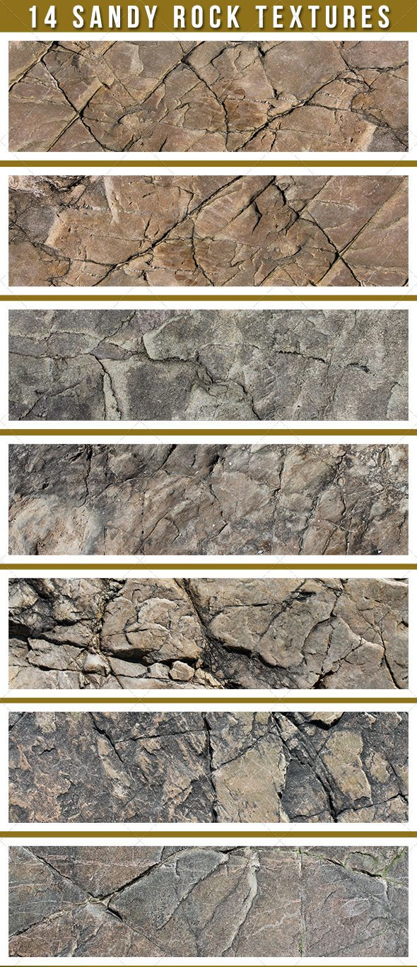 14 Sand Stone Textures  #GraphicRiver         A pack of 14 hi-res stone texture images. Each image is 300 DPI and 3088×2056.     Created: 21June13 GraphicsFilesIncluded: JPGImage Layered: No MinimumAdobeCSVersion: CS PixelDimensions: 3088x2056 PrintDimensions: 10.3x6.9 Tileable: No Tags: background #brown #cracks #hard #old #overlay #pattern #rock #sand #solid #stone #texture #worn