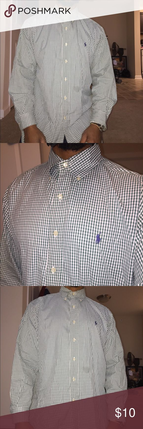 Men's Yarmouth LS Shirt Size 15 1/2 32/33 only thing is the cuff see pics selling cheap Ralph Lauren Shirts Casual Button Down Shirts