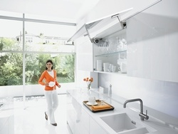 Functional furniture fittings from Blum, specialising in kitchen fittings and exhibiting at KBB London.