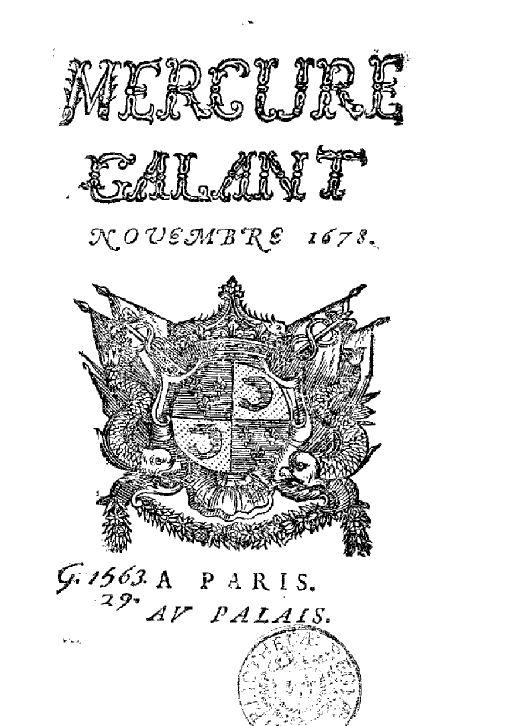 French Fashion/Lifestyle since 1678.  @ Le Mercure Galant