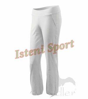 Fehér Leisure Női Sportos Nadrág kellemes, kényelmes, laza, puha, enyhén testhezálló, szép, elegánsan sportos, csinos viseletet biztosít. A ...