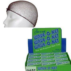 Jac O Net * Wave O Net The All Purpose Hair Cap 24 Nets Per Box * Color: Brown by Jac-O-Net. $19.99. The All Purpose Hair Cap * Net with Elastic Hair Line Band. Made of Dupont Nylon. Great to secure Hair Setting Rollers or as a Sleep Net * Great for Food Server Hair Net. Color: Brown. Jac-O-Net Wave-O-Net Box of 24 Nets. * Color: Brown* The All Purpose Hair Cap* Net with Elastic Hair Line Band * Made of Dupont Nylon* 24 Individual Boxed Nets* Great to secure H...