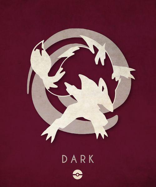 Pokémon Types Poster Series: Dark- Timmy Burrows