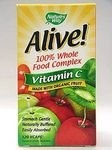 Alive Vitamin C is organic. Vitamin C is still the best way to keep Colds and Flu away, just take 2000 mg a day and you will be pleasantly surprised with the results.   Comes in capsules and powder form.  www.selfmender.com/vitamins