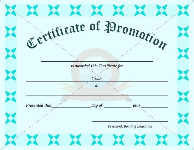 school promotion certificate template