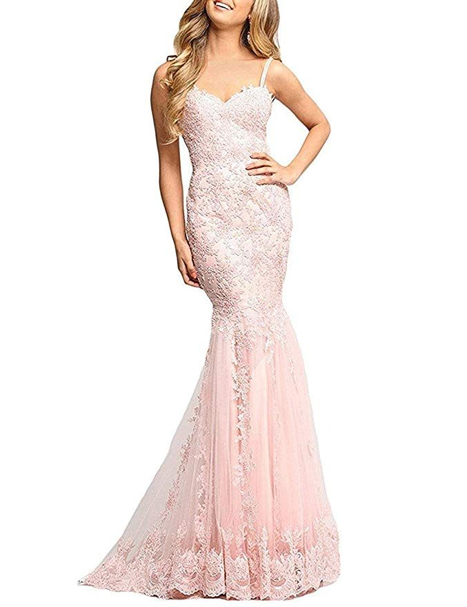 Monalia Women S Long Lace Mermaid Wedding Prom Dresses Formal