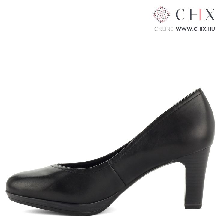 Bőr Tamaris cipő fekete színben. 7,5 cm magas Antishokk sarokkal és puha talpbéléssel készült. Minden cipősszekrénybe kötelező darab. Márka: Tamaris Szín: Black Modellszám: 1-22410-27 001 http://chix.hu/noi-cipok/13915-magas-sarku-platformos-tamaris-cipo-fekete-szinben-1-22410-27-001/