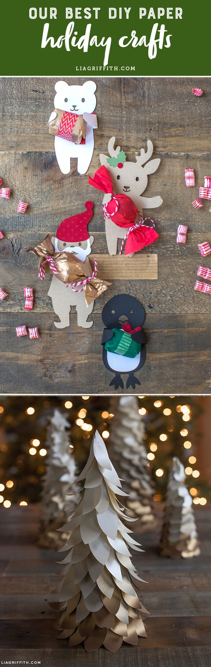 Our Best DIY Paper Holiday Crafts - Lia Griffith - www.liagriffith.com #diyholiday #diyholidays #diychristmas #diyidea #diyideas #diyproject #diyprojects #homefortheholidays #madewithlia