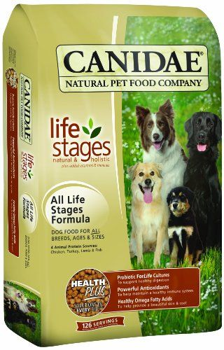 Canidae Dry Dog Food for All Life Stages, Chicken, Turkey, Lamb and Fish, 44-Pound CANIDAE http://www.amazon.com/dp/B001D9JC0G/ref=cm_sw_r_pi_dp_VpnTtb1N1T70Q5XD