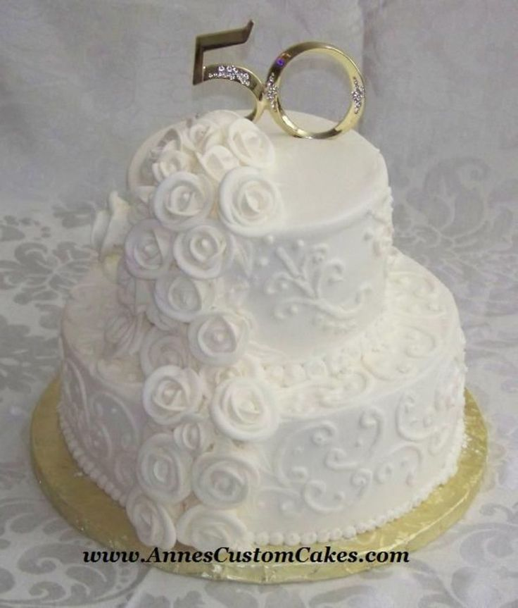 Cake Decorating For 50th Wedding Anniversary : 17 Best ideas about 50th Anniversary Cakes on Pinterest ...
