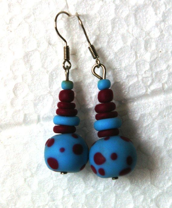 Polymer clay handmade earrings by Ralitsa by Inspiration2Art, $6.99