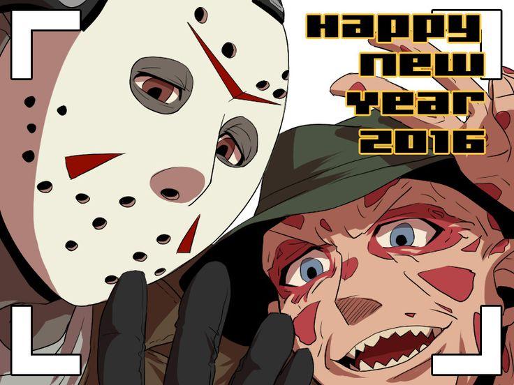 Happy New Year! by kay3o3 on DeviantArt Horror movies