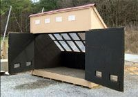 VT solar wood kiln