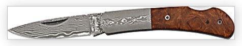 Damascus Pocket Knife