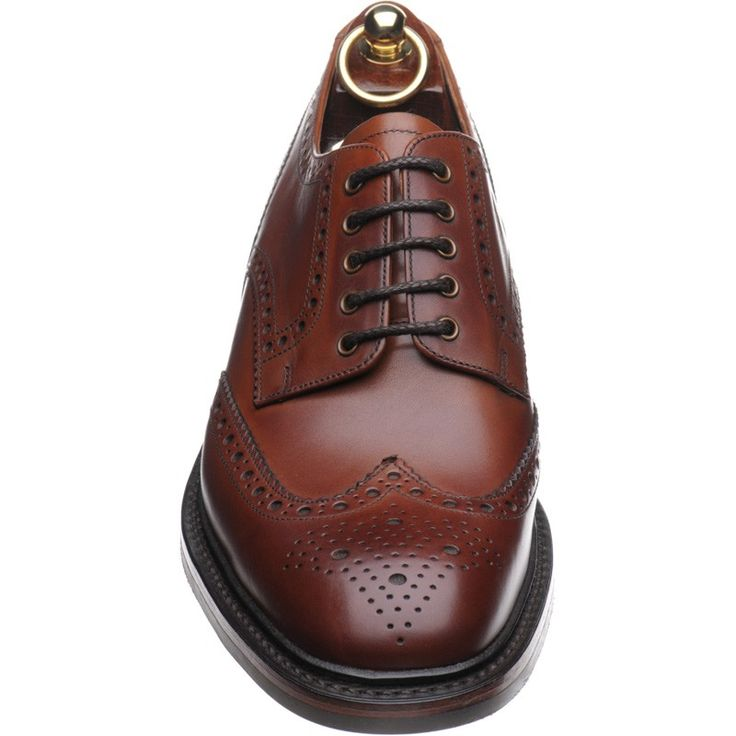 Black Leather Brogue Gleneagles With Cushion Welt Leather Sole Clean & Fresh