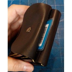 Men leather wallet with coins pocket