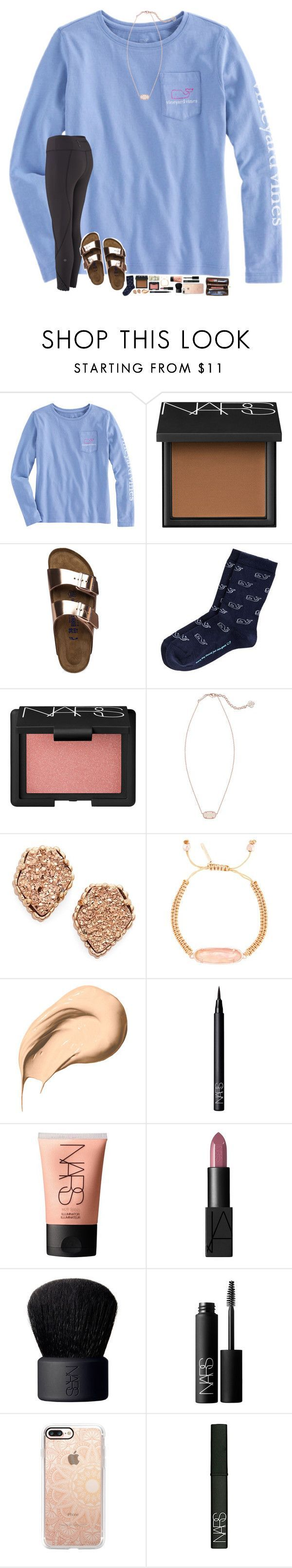 """""""things just got 100% more complicated."""" by hopemarlee ❤ liked on Polyvore featuring NARS Cosmetics, Birkenstock, Kendra Scott, Bobbi Brown Cosmetics, Louis Vuitton, Casetify and hmsloves"""