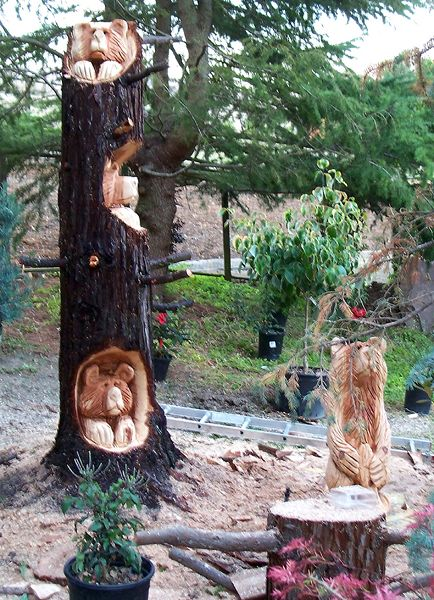 Tree carvings chainsaw carving pinterest wood