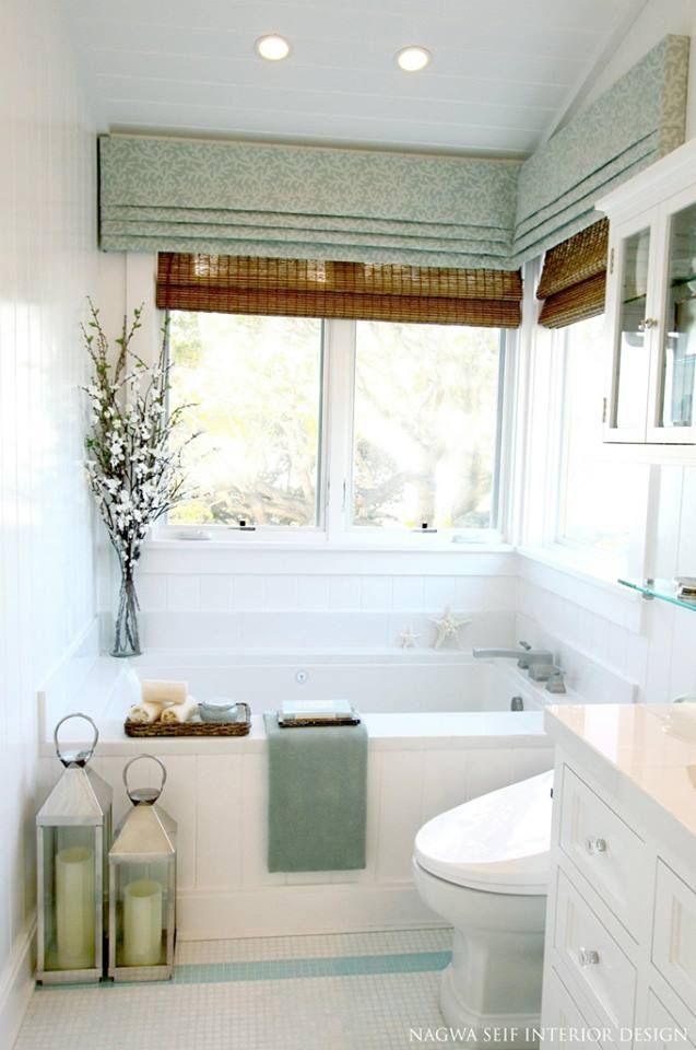 example of faux roman shade over grass blinds.  these romans have too many pleats at the bottom, yours would be simpler