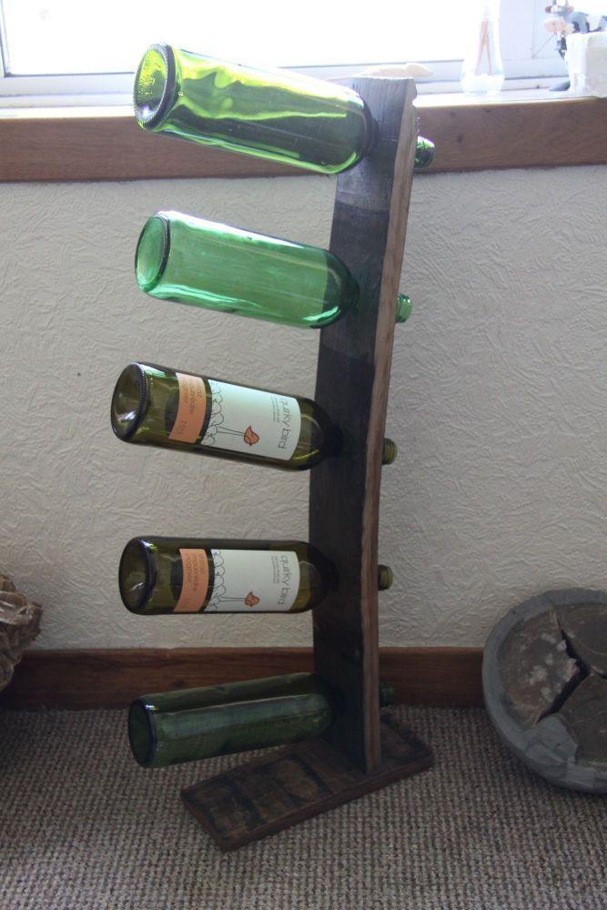Five wine bottle holder