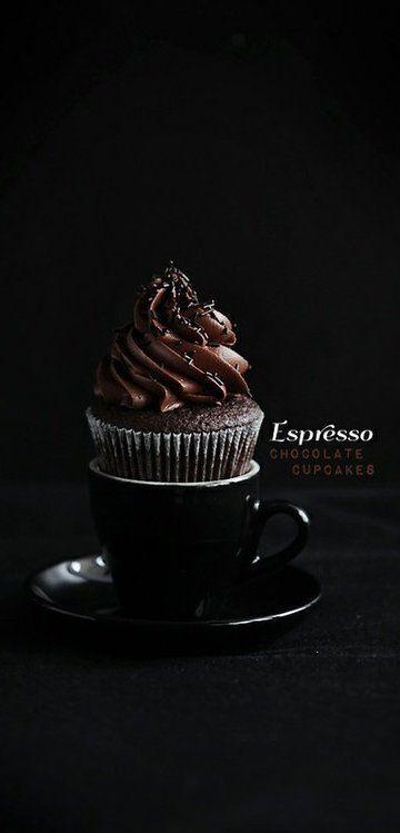 Perfect #espresso #chocolate #cupcake [recipe in English and in Swedish].