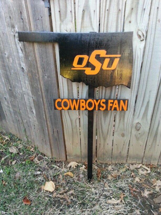 OSU cowboys yard sign