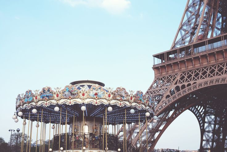 Eiffel Tower and Carrousel Paris, France