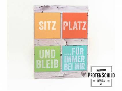 Retro-SchilderPfotenschild Hundefreund-Holzschild: Sitz, Platz, Bleib ...
