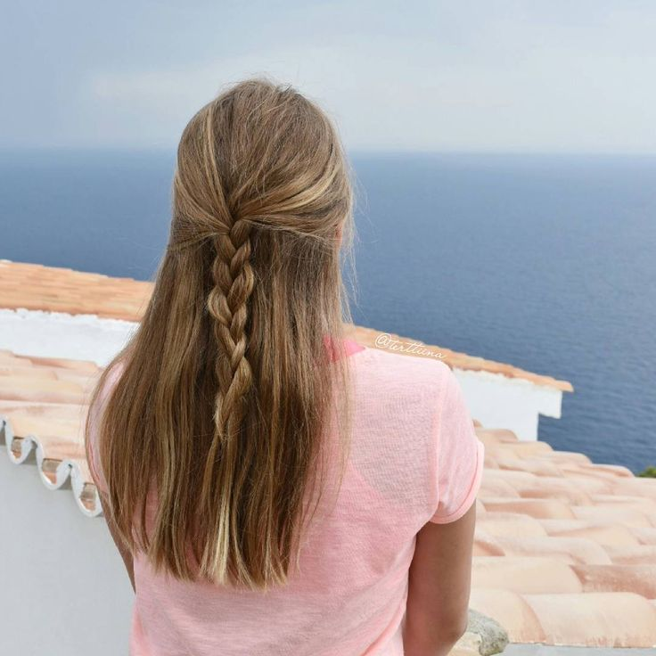 """Hair  by Terhi A (@terttiina) Instagram: """"Half up style with just a normal three strand braid, but the view was spectacular! #halfupdo"""