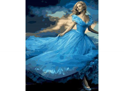 «Золушка» Картина по номерам, картина-раскраска по номерам, раскраска по номерам, paint by numbers, купить картину по номерам - Zvetnoe.ru - картины по номерам, алмазная мозаика